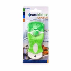 Скребок Eurokitchen для чистки стеклокерамики, белый/салатовый - фото 74119