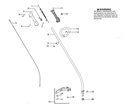 Правая крышка задней рукоятки триммера Husqvarna 125C (рис 3) - фото 8351
