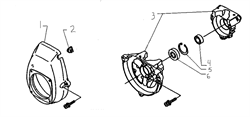 Сальник триммера Husqvarna 122L (рис 4)