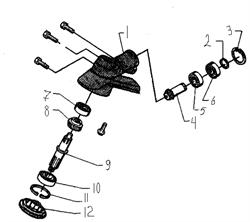 Подшипник шариковый редуктора триммера Husqvarna 122L (рис 10) - фото 8480