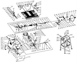 Щит промежуточный пильного станка Энкор Корвет-11 (рис.50)