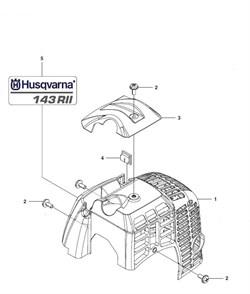 Крышка цилиндра триммера Husqvarna 143R II (рис 1)