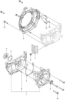 Прокладка картера триммера Husqvarna 143R II (рис 5)