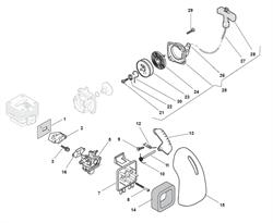 Воздушный фильтр триммера Alpina 534D (рис 14)