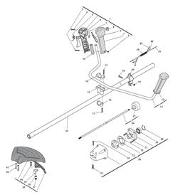 Корпус верхнего редуктора в сборе триммера Alpina 534D (рис 28)