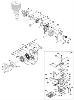 Воздушный фильтр триммера Alpina vip 31 (рис 13) - фото 8828