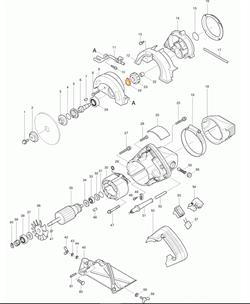 Фильтр помех для 5012B/HR2400/ электрическая цепная пила Makita 5016NB рис.( 95)