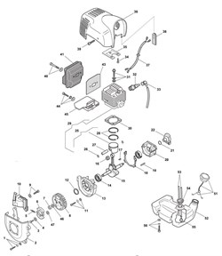 Передняя часть картера триммера Castelgarden BJ250 (рис 13)