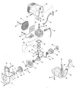 Поршневое кольцо триммера Castelgarden BJ 250 (рис 28)
