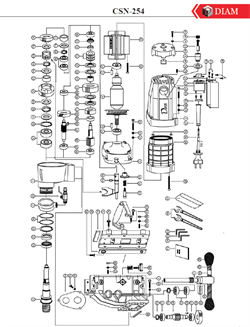 Водяной штуцер сверлильной машины Diam CSN-254 Angle №7