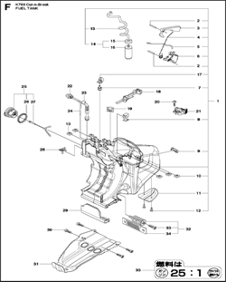 FUEL TANK ASSY бензореза Construction K760 CUT-N-BREAK 2013-06 (рис.1) - фото 95170