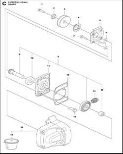SCREW EHHM электрического резчика Husqvarna Construction K4000 CnB 9670797-01 (2018-02) (рис.15)