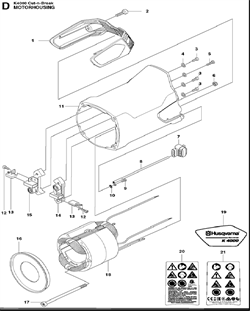 HEXAGON LOCKING NUT электрического резчика Husqvarna POWER CUTTERS K 4000, (2018-03) (9670798-01) (рис.6)