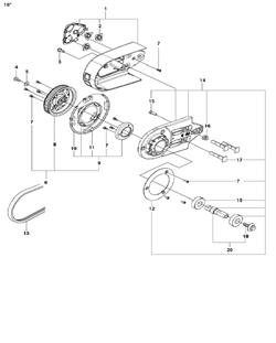 BAR BOLT спасательного бензореза Husqvarna POWER CUTTERS K 770, 2017-11 (9678091-01) (рис.15)