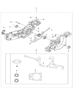 SCREW CCRPANT бензореза Husqvarna POWER CUTTERS K970 III, 2016-07 (9673481-01) (рис.1)
