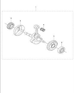 NEEDLE BEARING бензореза Husqvarna POWER CUTTERS K970 III, 2016-07 (9673481-01) (рис.13)