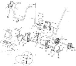 Крышка электромотора задняя культиватора TEXAS El-Tex 1000 (рис.7) - фото 9797