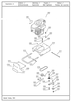 Крепление ролика культиватора TEXAS Hobby 370 TG (рис.029)