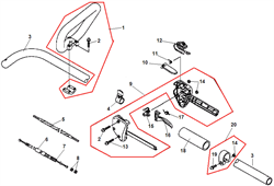 Корпус рукоятки триммера Echo GT-22GES (рис. 9)