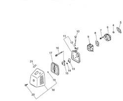 Кронштейн крепления крышки воздушного фильтра триммера Echo SRM-4605 (рис. 15)
