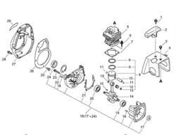 Корпус триммера Echo SRM-4605 (рис. 4)