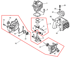 Коленвал триммера Echo SRM-2655SI (рис. 11)