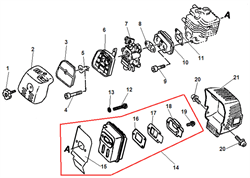 Глушитель триммера Echo SRM-2655SI (рис. 14)