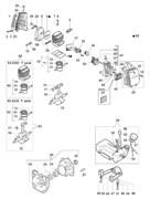 Цилиндр с поршнем триммера Efco 8300 (рис.10) - фото 10146