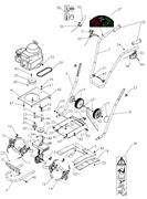 Рычаг газа культиватора Pubert MB FUN 350 (рис.33)