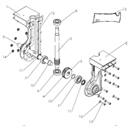 Шпонка редуктора культиватора Pubert MB FUN 350 (рис.6)