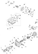Основание воздушного фильтра триммера Efco Stark 40 (рис. 49)