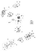 Цилиндр и поршень в сборе триммера Efco Stark 40 (рис. 1)