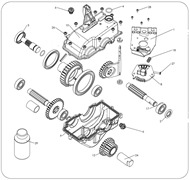 Шестерня коробки передач культиватора Masteryard MT 70R TWK+ (рис.11)