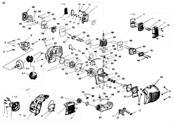 Бак топливный триммера Elitech Т750Р (рис. 67)