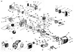 Крышка топливного бака триммера Elitech Т750Р (рис. 72)