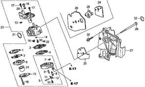 Карбюратор триммера Elmos EPT-29F (рис. 23)