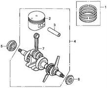 Поршневые кольца триммера Elmos EPT-29F (рис. 1)