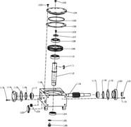 Червячная передача, правая затирочной машины Conmec CRT830 (рис.109)