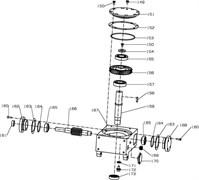 Червячная передача, левая затирочной машины Conmec CRT830 (рис.156)