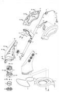 Кнопка включения триммера Gardena ClassicCut (рис. 6)