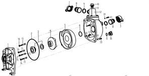 """Патрубок выпускной 70*70, 1"""" мотопомпы Калибр БМП-1100/10 (рис.12)"""