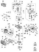 Блок цилиндров в сборе двигателя мотобура Oleo-Mac MTL 51 (рис.85)