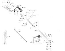 Нижняя штанга триммера McCulloch B28 PS (рис. 23)