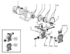 Комплект сальников минимойки LAVOR Phantom 19 (рис.14)