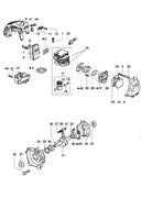 Цилиндр с поршнем триммера Oleo-Mac 725D (рис. 18)