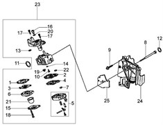 Карбюратор триммера Oleo-Mac BC 260 4S (рис. 23)