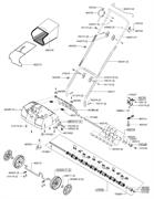 Комплект ножей для прореживателя аэратора Al-Co Comfort 38 VLB Combi-Care (рис.462219)