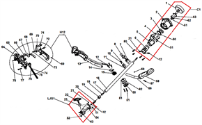 Амортизатор втулки вала штанги триммера CHAMPION T 256 (рис.19)