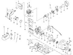 Барабан сцепления триммера Partner B 250B (рис. 58)