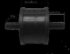 Амортизатор для виброплиты D -100 для виброплит массой 120-200 кг